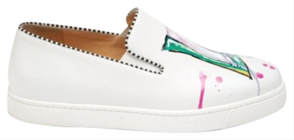 50ce37d0d578 Christian Louboutin Sneaker Slip On Leather Multi Color Made In Italy White  Athletic Image 0 ...