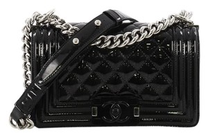 aacda6599fcc Chanel Classic Flap Boy Quilted Plexiglass Small Black Patent ...