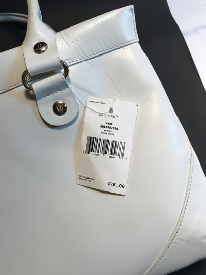 Kate Spade Leather Wynn Sutton Satchel in white Image 1