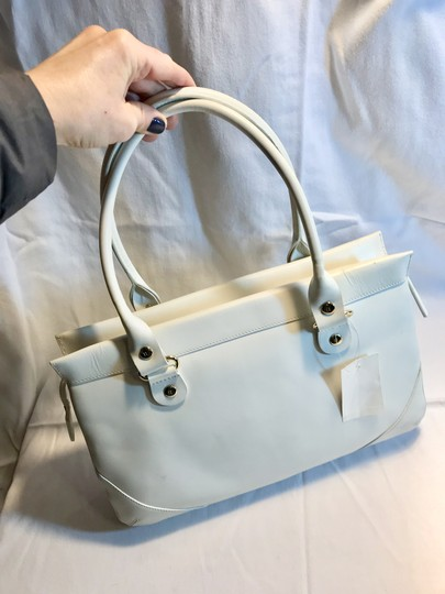 Kate Spade Leather Wynn Sutton Satchel in white Image 3