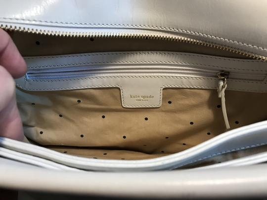 Kate Spade Leather Wynn Sutton Satchel in white Image 6