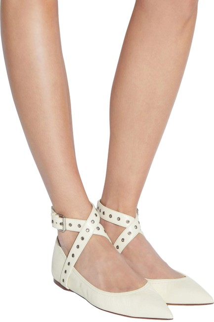 Item - Ivory Love Latch Grommeted Ankle-wrap Ballerina Flats Size EU 36 (Approx. US 6) Regular (M, B)