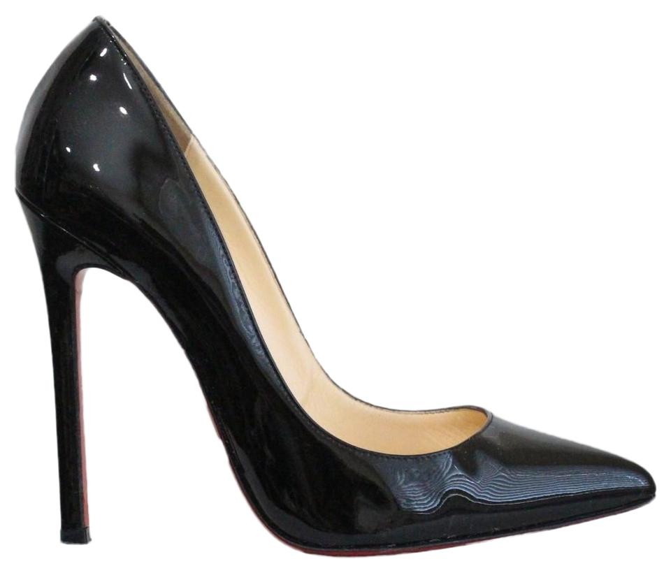 f483cc989e1 Christian Louboutin Black Pigalle 120 Patent Leather Pumps Size EU 36.5  (Approx. US 6.5) Extra Wide (Ww