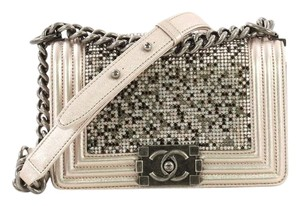 6555de475804 Added to Shopping Bag. Chanel Leather Shoulder Bag. Chanel Classic Flap Boy  Strass Embellished Small ...