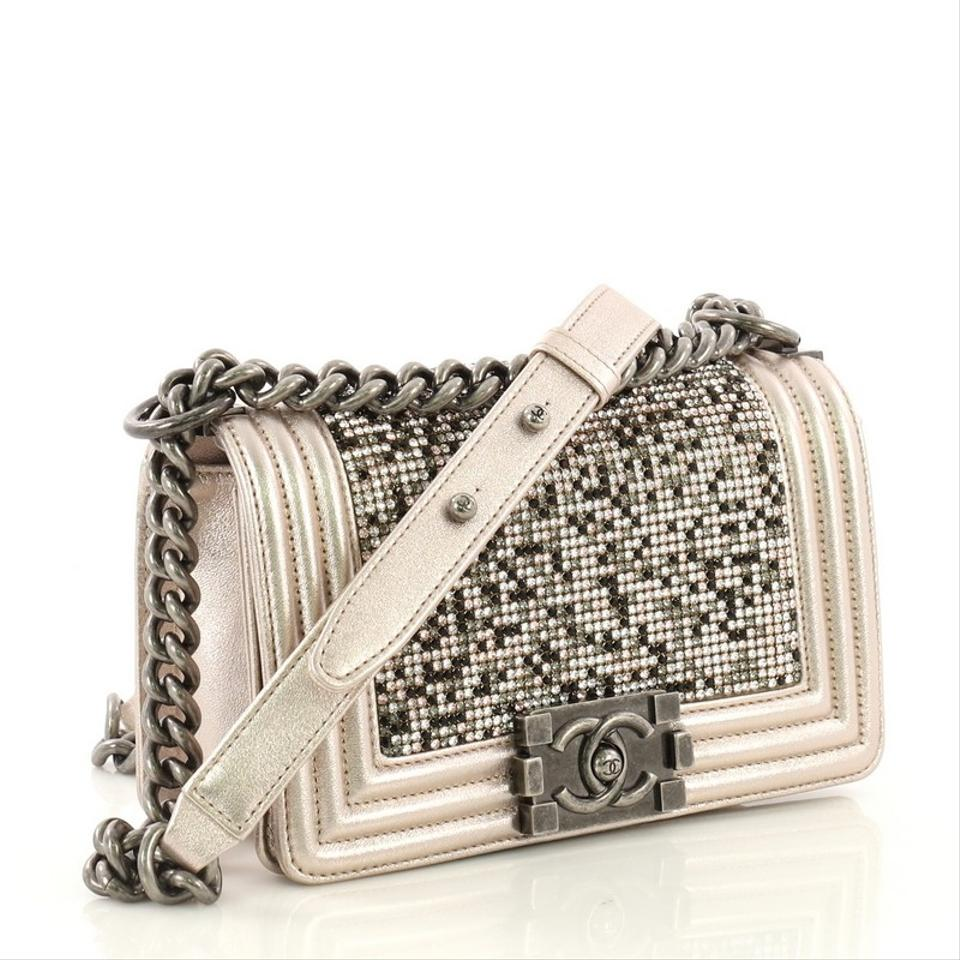 9f800b7958fe Chanel Classic Flap Boy Strass Embellished Small Light Pink Leather ...