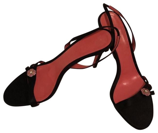 Item - Black/ Hot Pink Heels Formal Shoes Size US 9.5 Regular (M, B)