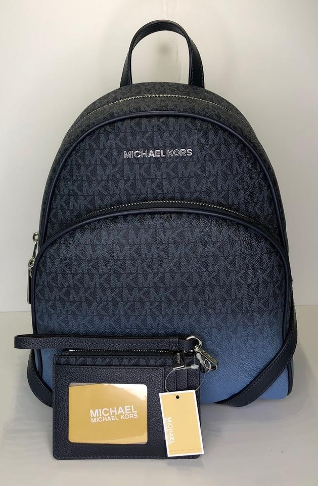 0ec9a6e1de3f Michael Kors Abbey Md and Matching Coin Purse Wallet Signature Mk Admiral  Leather Backpack - Tradesy