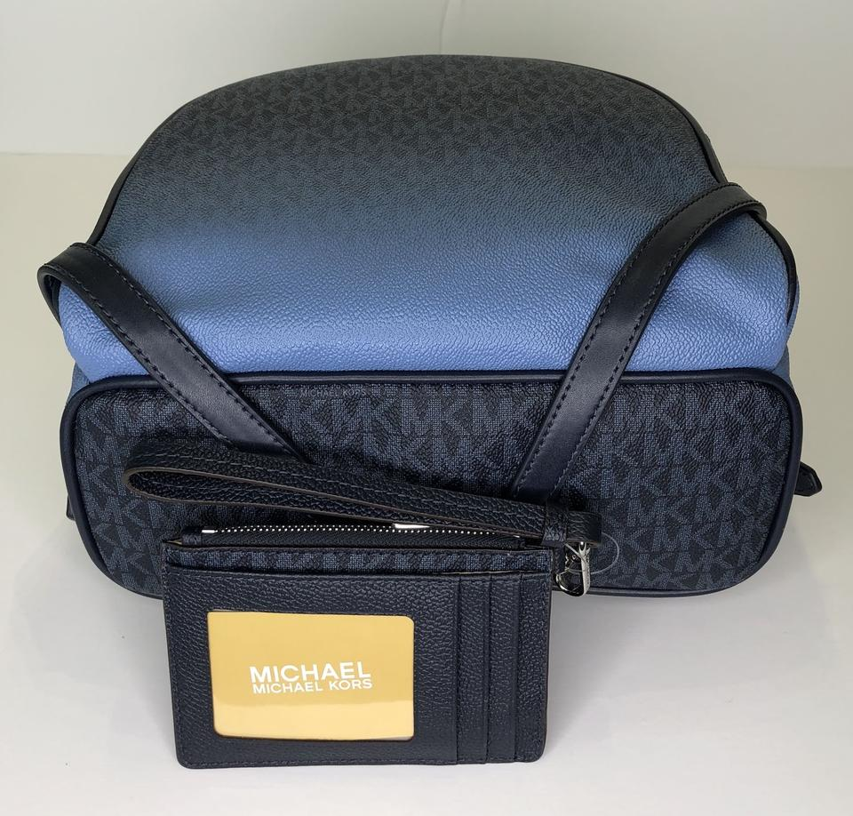 efa4cfe22bf0 Michael Kors Abbey Md and Matching Coin Purse Wallet Signature Mk Admiral  Leather Backpack - Tradesy