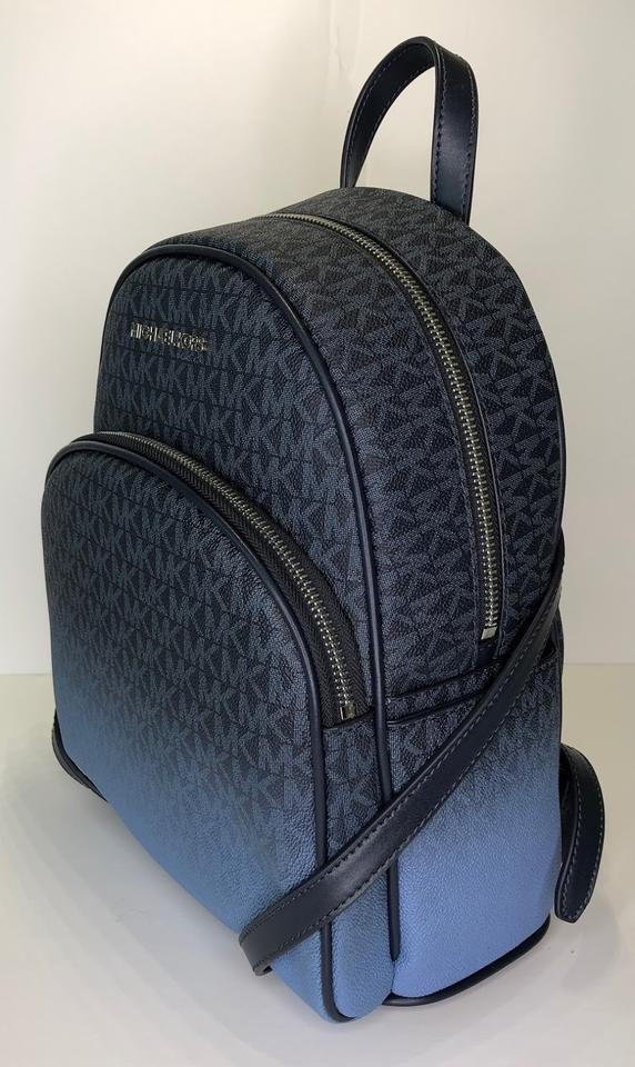 70d201dbe366 Michael Kors Abbey Md Signature Mk Admiral Leather Backpack - Tradesy