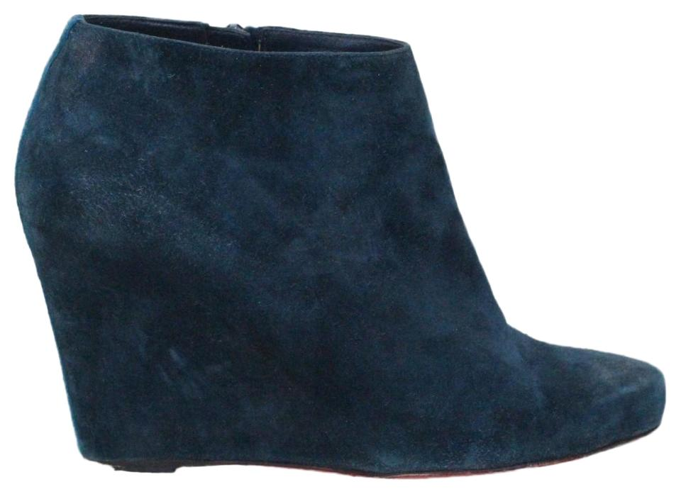 2bffb03a2b4 Christian Louboutin Blue Melisa Suede Ankle Boots Booties Size EU ...