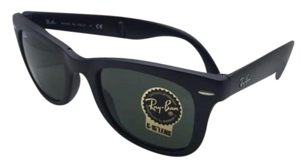 be42ad7c51 Ray-Ban Folding Wayfarer Rb 4105 601-s 50-22 Matte Black W Green ...