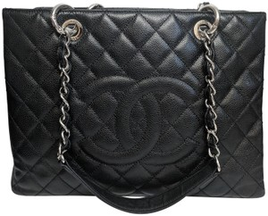 Chanel Gst Grand Shopping Caviar Tote in Black