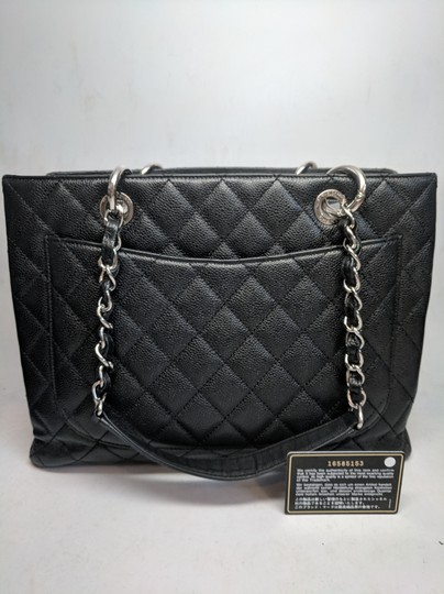 Chanel Gst Grand Shopping Caviar Tote in Black Image 5