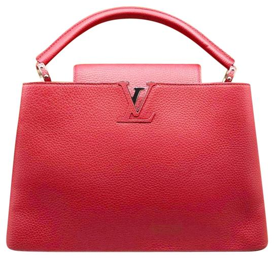 2cd75c4281d4 Fendi New Capucines Mm Red Leather Shoulder Bag - Tradesy