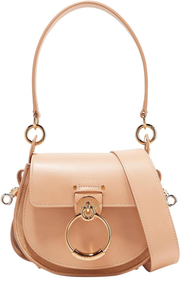 88ffc199d530 Chloé Tess Small Biscuit Pink Leather Suede Shoulder Bag - Tradesy