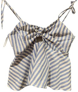 Rampage Top blue and white stripe