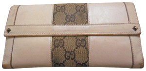 Gucci Gucci leather and large G logo print canvas wallet