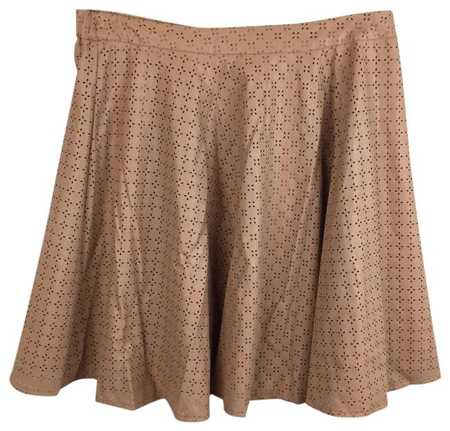 Item - Tan Leather Print Skirt Size 8 (M, 29, 30)