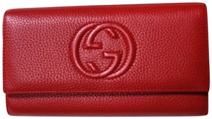 4c9befbedc5d Gucci Authentic Gucci Soho Red Leather Continental Wallet Clutch