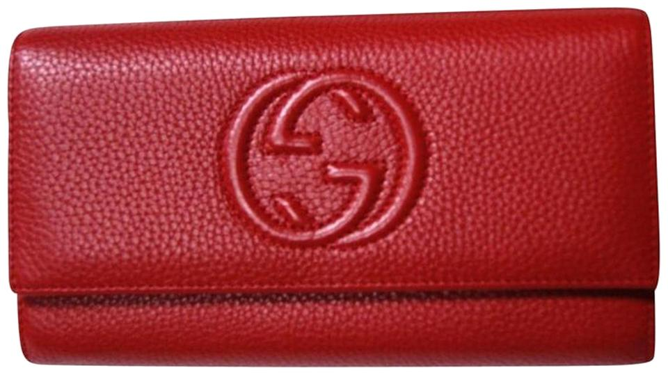 fc91732fb0a Gucci Authentic Gucci Soho Red Leather Continental Wallet Clutch Image 0 ...