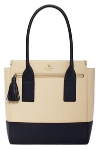 Kate Spade Cowhide Pebbled Leather Tote in Cream
