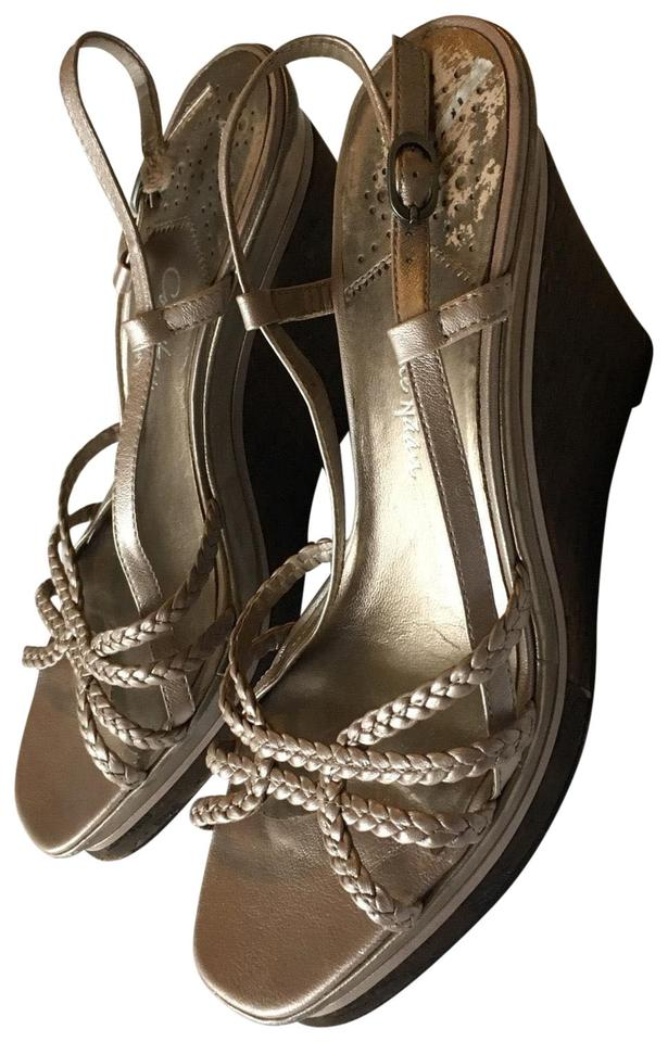 2deb10b2b03 Cole Haan Braided Strappy Sandals Open Toe Cork Woven Womens Nike ...