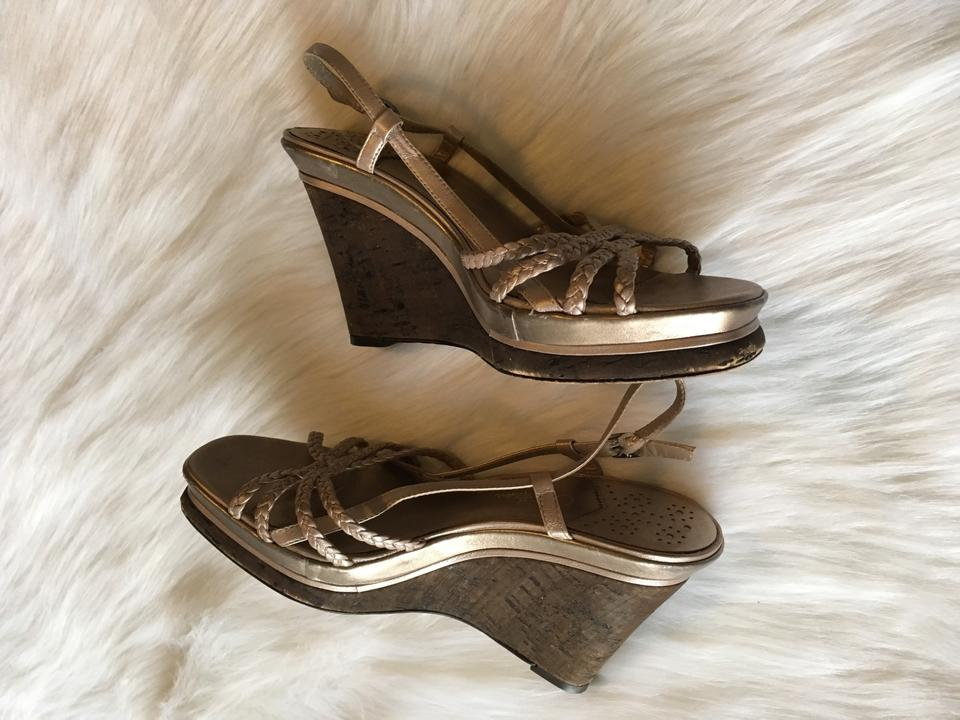 71b9382528fa Cole Haan Braided Strappy Sandals Open Toe Cork Woven Womens Nike Heels  Wedges Size US 8 Regular (M