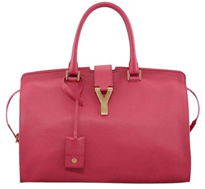 Saint Laurent Fuchsia Leather Satchel in HOT PINK