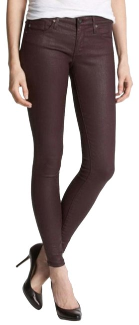 Item - Burgundy Coated Absolute Legging Skinny Jeans Size 4 (S, 27)