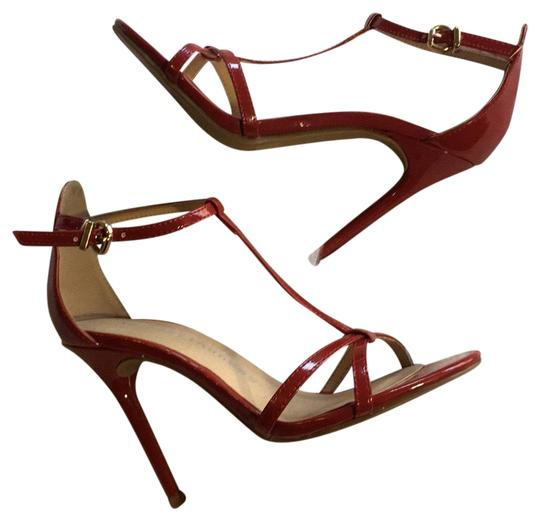 f6a23e7cbc Chinese Laundry Red T Strap Open Toe Strappy Sandals Stilettos High ...