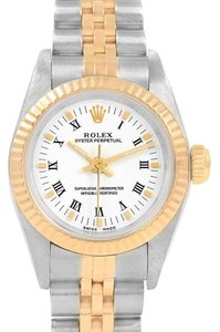Rolex Rolex Oyster Perpetual NonDate Ladies Steel Yellow Gold Watch 76193