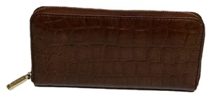 Fossil Fossil Crocodile Embossed Brown Wallet Style # SL4731.