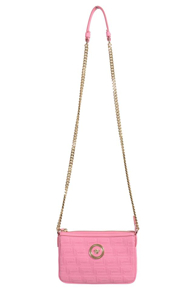 112f4196102 Versace Shoulder Bag Quilted Small Light Pink Leather Satchel - Tradesy