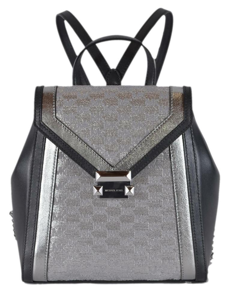 edf6c7502cd3ee MICHAEL Michael Kors New Whitney Metallic Silver Jacquard and ...