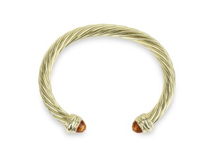 David Yurman Citrine 14k Yellow Gold 7.2mm Men's Cable Bracelet