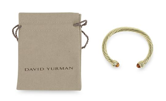 David Yurman Citrine 14k Yellow Gold 7.2mm Men's Cable Bracelet Image 11