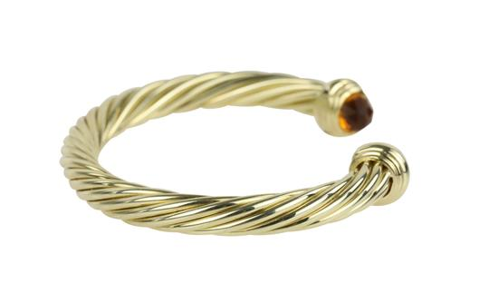David Yurman Citrine 14k Yellow Gold 7.2mm Men's Cable Bracelet Image 2