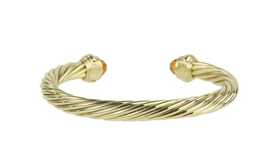 David Yurman Citrine 14k Yellow Gold 7.2mm Men's Cable Bracelet Image 3