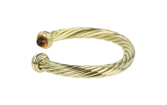 David Yurman Citrine 14k Yellow Gold 7.2mm Men's Cable Bracelet Image 4
