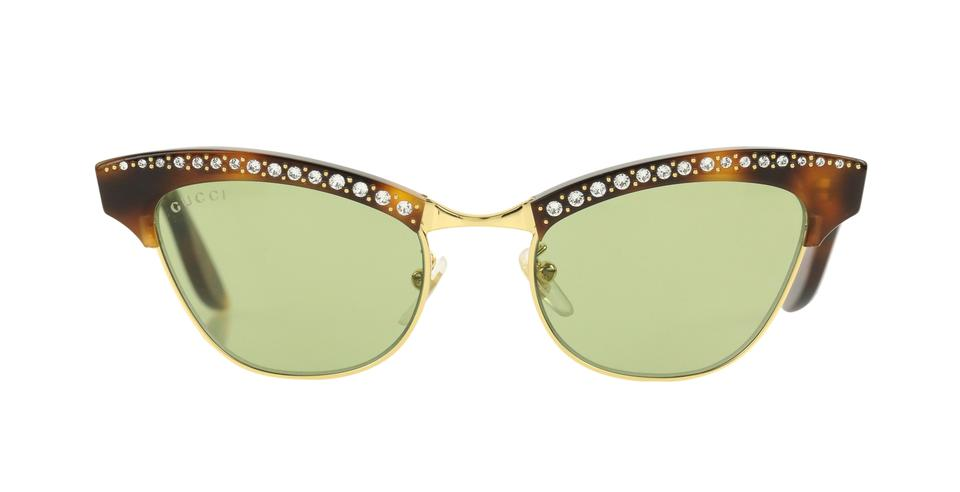 00daf1bb0bec Gucci Gucci Pixie Crystal-Embellished Cat-Eye Sunglasses Image 0 ...