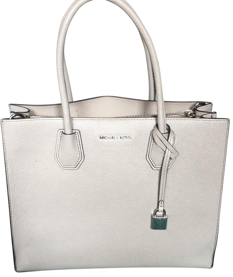 7119c88ac526 MICHAEL Michael Kors Mercer Large Pearl Grey Pebbled Leather Tote ...