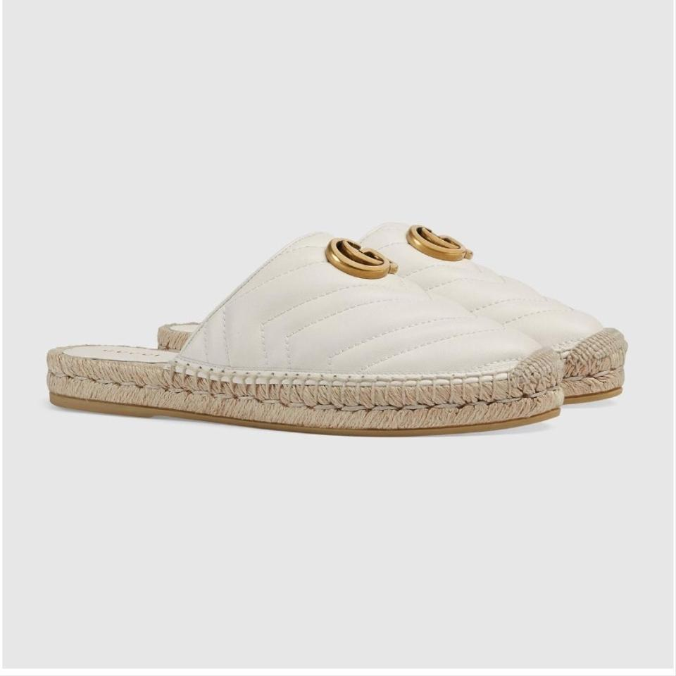 f3c65bb9a Gucci Marmont Double G Leather Espadrille Flats Size EU 41 (Approx. US 11)  Regular (M, B) - Tradesy