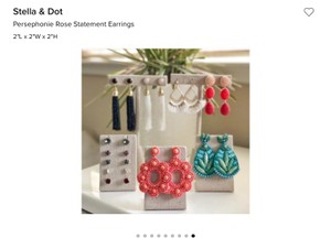 Stella & Dot Persephone and Rose Statement Earrings