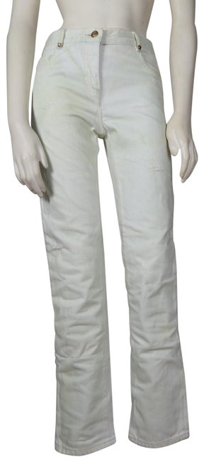 Item - Yellow Distressed Stained Skinny Jeans Size 28 (4, S)