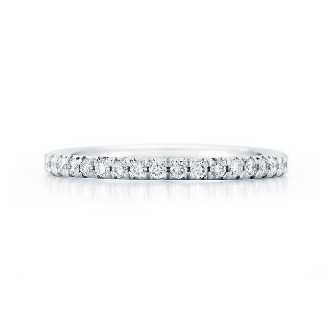 Item - White Diamond Eternity 1.5mm Wide Dainty French Pave 0.45 Cttw Women's Wedding Band
