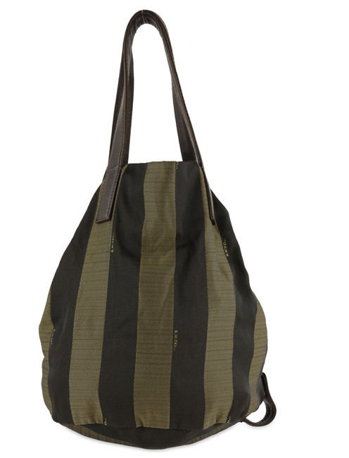 Item - Pequin Vintage Small Foldable Brown Nylon Tote