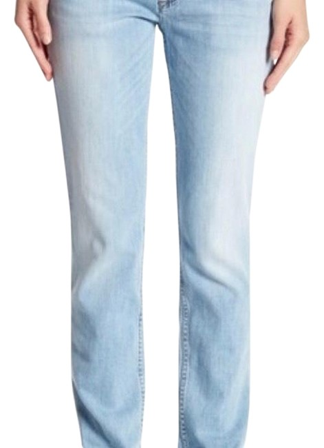 Item - Blue Light Wash Skinny Boyfriend Cut Jeans Size 4 (S, 27)