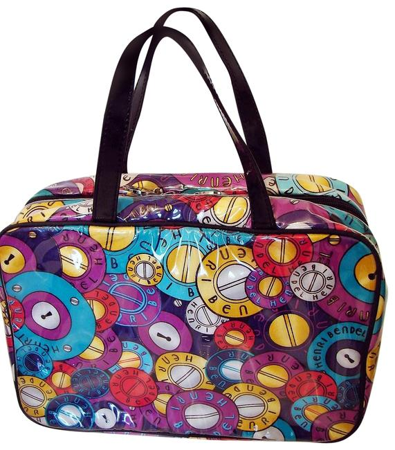 Item - Multicolor Large Hanging Logo Weekender Cosmetic Bag