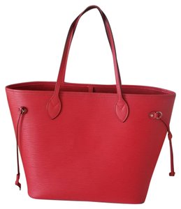 Louis Vuitton Excellent Condition Neverfull Epi Leather Tote in Red