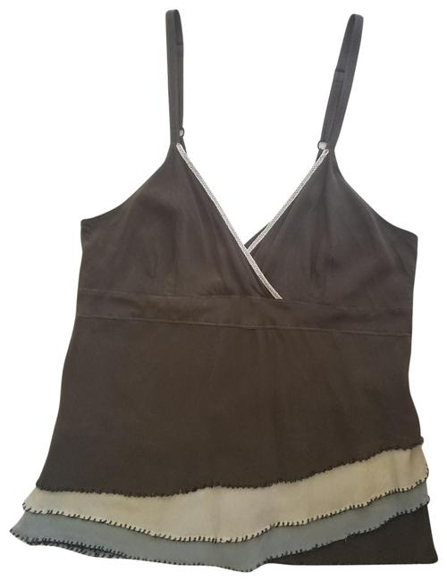 Item - Brown Silk Tank Top/Cami Size 6 (S)